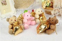Wholesale Teddy Bear Mobile Phone Hanging - 2016 hot new Teddy bear mobile phone pendant hang adorn plush dolls plush toys.Christmas gift.