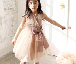 Wholesale Korean Babies Pictures Girls - Korean Version Of The New Children 's Clothing Girls Dress Baby Princess Dress Veil Spring Summer Dress