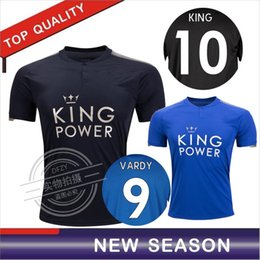 Wholesale Man City Soccer Jerseys - Thai quality 2017 2018 Leicester City soccer jerseys 17 18 Iborra VARDY MAHREZ HUTM home away football jersey KING Leicester City Jerseys