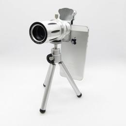 2019 lente de zoom 12x teléfono móvil Cat Clip Metal 12X Universal Zoom óptico Telescopio Cámara teleobjetivo Lente con trípode teléfono móvil len Envío gratis