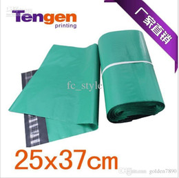 Wholesale Mailing Envelopes Green - Self-Seal Poly Mailer Shipping Envelope Mailing Bags Core research and development-green 100pcs lot 250*(330+40)mm