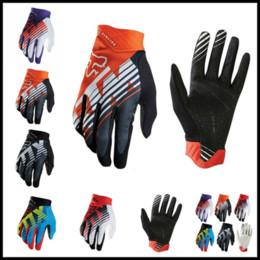 Wholesale gears bikes - FOX MTB Racing Gloves 5 Colors Winter Motocross Dirtpaw Rockstar Full Finger Protective Gear for Ski Bike