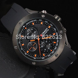 Wholesale Pin Trade - 2017 Hot Items Casual Man Watch Foreign trade sales Big Hours Stainless steel case Male Quartz Watch Curren Rubber Wriswatch military watch