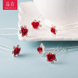 Wholesale Free Stocking Clips - Free Shipping In Stock Clear U Shape Crystal Wedding Bridal Hair Pin Hair Fashion Bridal Clip Hair Accessories
