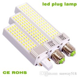 Wholesale E27 18w Globe Lamp Led - E27 G24 G23 LED corn bulb SMD5050 Horizontal Plug lights led lamp 5W 6W 7W 8W 9W 10W 12W 64 LEDs led lighting