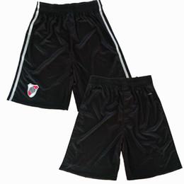 Wholesale river s - 2017 2018 River Plate Soccer shorts 17 18 CA football Black shorts S-2XL