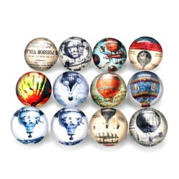 Wholesale wholesale hot air balloon plates - Hot selling Mix 20pcs hot air balloon Snap Button Jewelry 18MM Ginger Snap Buttons Fit 18mm Snap Necklaces Bracelets