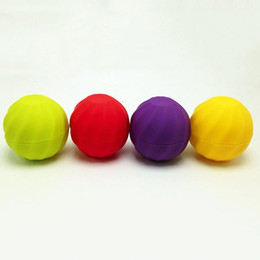 Wholesale Empty Cases - New Arrival Ball shape empty lip balm container cosmetics 7g lip gloss holder cream jars DIY Eye Gloss Cream Sample Case