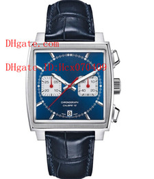 Wholesale Watch Steel Strap 12 Mm - luxury Men's AAA Top quality Blue Dial Calibre 12 Watch Quartz Chronograph Leather strap Sport Movement Men's Watches Wristwatch