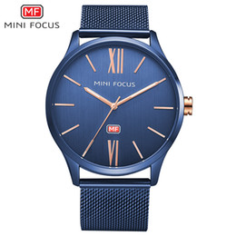Wholesale Water Resistant Watch China - high quality China cheap watches wholesale 2017 stainless steel custom watch OEM brand mesh belt simple men watches