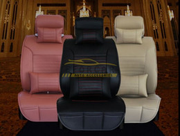 Wholesale Car Seat Cushions Brown - New Hot Sale PU Leather Car Seat Cover Universal Car Seat Cushion 3 Color Free Shipping