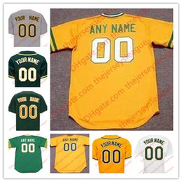 Wholesale Oakland Baseball Jersey - Mens Womens Youth Oakland Custom White Home Gold Gray Road Blcak Green Stitched Any Name Any Number Cool Base Jerseys S-4XL
