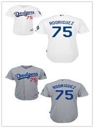 Wholesale Factory Outlet Mens Womens Kids Los Angeles Dodgers Paco Rodriguez Embroidery Stitched White Grey Cool Base Flex Base Baseball Jerseys