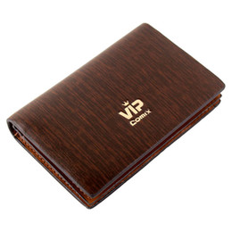 Wholesale New Design Leather Key Chain - New Fashion Brand Men's Vintage Genuine Leather Designer Wallets Short Design Men Purse Money Clips Card ID Holders order<$18no track