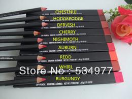Wholesale Lip Liner Crayon Levres - Hot selling 1pcs new lip liner pencil crayon a levres 1.45g Free shipping