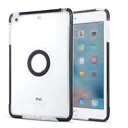 Wholesale transparent color ipad mini - For iPad Mini 1 2 3 Case Flexible Soft Transparent TPU Back Cover Shockproof Big Eyes Clear iPad case With Opp Bag