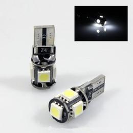 Wholesale W5w Bulb 194 - 10 Pcs lot Error Free T10 Canbus led W5W 194 5050 5SMD 5 LED White Light Car Bulbs