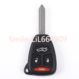 Caricabatteria dell'automobile online-Remote Car Key Fob Custodia Shell per Jeep Grand Cherokee Dodge Magnum Durango Caricatore Chrysler di ricambio 4 Pulsanti Key Fob