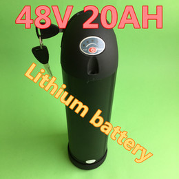 Wholesale Battery Electric Bike 48v - Free shipping hot sale 1000W Electric Bike battery 48V 20AH Bottle lithium battery with 15A BMS 54.6V 2A charger