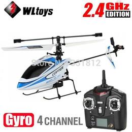 Вертолет rc 2.4ghz онлайн-Высокое качество WLtoys модернизированная версия V911 4CH 2.4 ГГц одно лезвие пропеллер Радио пульт дистанционного управления RC вертолет ж/гироскоп RTF режим 2
