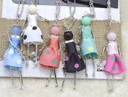 2019 dolls para venda Venda imperdível!!! Moda Boneca Colar Atacado charme feminino Boneca Pingente de Colar Jewlery Venda Mulher presente frete grátis dolls para venda barato
