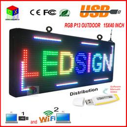 """Display programmabile online-40 """"(L) x 15"""" (H) FULL COLOUR RGB Led programmabile con display a scorrimento per P13 COMPLETAMENTE uso esterno display a led"""
