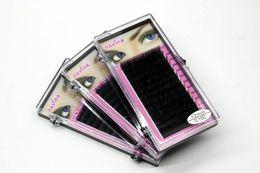 Wholesale Silk Eyelashes Individual - Makeup 8mm 10mm 12mm 14mm MINK Individual Eyelash Extension maquiagem Handmade Artificial Fake False Eyelashes C-curl Silk Lash 12Lines Set