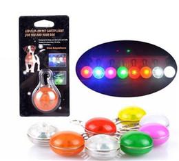 Wholesale Pendant Lights Products - Pets Products Dog Collars Pet LED Luminous Pendant Pet Tag Luminous Identification Pet Accessories Dog Supplies