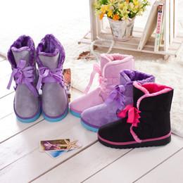 botas planas de piel de invierno Rebajas Las mujeres calientes de la venta atan para arriba cargadores planos del tobillo del invierno del otoño de los cargadores de la nieve los zapatos planos 4 de señora Warm Fur