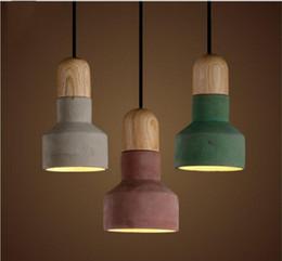 Canada Nouveautés Style Japonais Pendentif En Ciment Avec 3 Couleur Abat-Jour Chaud Loft Vintage Campagne Américaine Pendentif Lampes Offre
