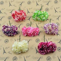 Wholesale Cheap Decorative Paper - Wholesale- Cheap 12pcs lot Paper Artificial Carnation Flower Bouquet For Wedding Car Decoration DIY Decorative Floristry Supplies Flowers