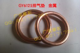 Wholesale Exhaust Pipe Gaskets - Free shipping Pedal absorb 125 motorcycle exhaust gasket gy6125 150 exhaust pipe gasket metal 5 pieces lot order<$18no track