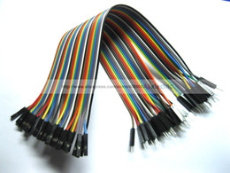 """Wholesale Pin Jumpers - 5 Pcs Jumper Wire Male to Female 40 Pin 2.54mm Coloured Ribbon Cable 20cm 8"""""""
