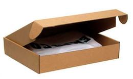 Wholesale Paper Clothing Packaging Box - Wholesale-Wholesale 30pcs lot Free shipping 21*13*3.5cm corrugated board clothes packaging box,shirt packaging box