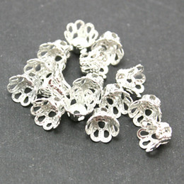 Wholesale Filigree Gold Jewelry - 2000pcs -Filigree Metal Flower Bead Cap 4x5mm Plated Gold&Rhodium&Antique Brozen U-Pick Color Spacer Beads DIY Jewelry Findings DH-FDA003