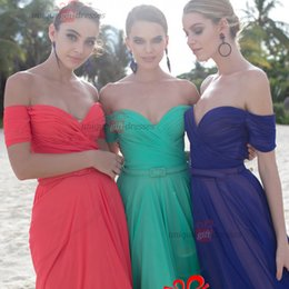 Wholesale Dress Tarik Ediz - tarik ediz dresses cheap beach bridesmaid dresses Short sleeves chiffon wedding party gowns women bridesmaid dress W6738