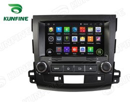Wholesale Dvd Player 3g - Car DVD GPS Navigation Player for MITSUBISHI OUTLANDER 2006-2012 Radio 3G Wifi steering wheel control Android 5.1 Quad Core 1024*600 Screen