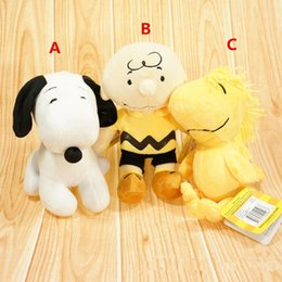 Wholesale Peanuts Doll - New Peanuts Comics Charlie Brown And Snoopy Plush Toys Dolls Little Cute Woodstock Plush Stuffed Dolls Kids Toys Free Shipping