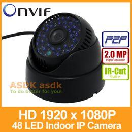 Wholesale Dome Ip Cam - Indoor FHD 1920 x 1080P 2.0MP IP Camera 48 LED IR Dome Security Camera ONVIF Night Vision P2P IP CCTV Cam with IR-Cut