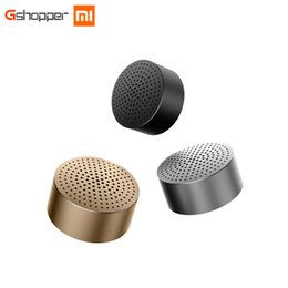 Wholesale Turned Metal - Bluetooth Speaker Wireless Headphones Portable Mini Round Box Metal Steel Stereo HIFI Three Colors New Original Free Shipping