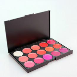 Wholesale 15 color lipstick palette - New Arrival Hot Pro 15 Color Makeup Maquiagem Cosmetic Lip Gloss Lipstick Palette Set Fullips Lipgloss