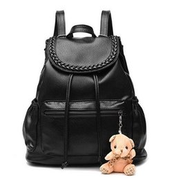 Wholesale Girl Notebooks - 2017 NEW Fashion Designed Brand Backpack Women PU Leather School Bag Girls Casual Style Backpacks Laptop Notebook Travel