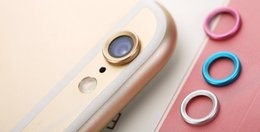 Wholesale Iphone Circle Case - New Arrival Rear Camera Glass Guard Circle Metal Lens Protective Case Cover Ring Bumper for iphone 6 6s 4.7 plus 5.5 DHL Free