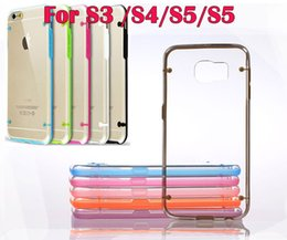 Wholesale Galaxy S4 Clear Hybrid Cases - For Samsung Galaxy S6 G9200 S5 I9600 S4 S3 Glow in Dark Luminous TPU Gel Bumper Hybrid Hard Clear skin Plastic Back cover case 100pcs 200pcs