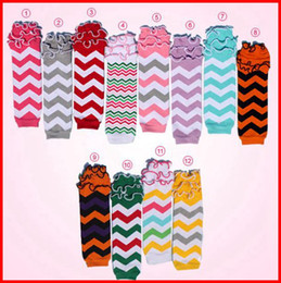 Wholesale Children Lace Socks - Retail 2015 baby girls cute ruffle chevron leg warmers children 100% cotton leg warmers lace wave socks adult arm warmers 12pairs lot Melee