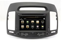 Wholesale Dvd Elantra - Android 4.4 Car DVD Player for Hyundai Elantra 2007-2011 with GPS Navigation Radio Bluetooth TV USB SD AUX MP3 WiFi Head Unit