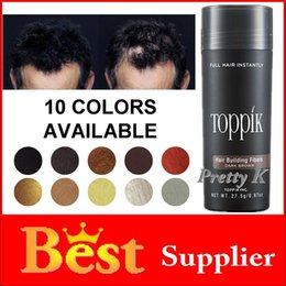 Wholesale Toppik Hair Building Fiber for hair extension bottle powder black blonde brown colors grams