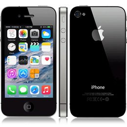 Wholesale Unlock Iphone Wifi - Refurbished Original Apple Iphone 4 Unlocked Phone 3.5 Screen 8GB 16GB 32GB IOS7 GPS WIFI 3G