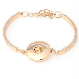 Wholesale 14k Gold Filled Beads - Wholesale 5PCS Lot Alloy Bracelet&Bangle DIY Snaps Wristband Bracelets Factory Price Mixed Colors Bangle Fit 18&20MM Snaps WB45