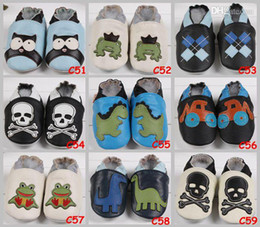 Wholesale Owl Shoes - Leather Baby Soft Sole Walking Shoes Zoo Newborn Infant Owl Leather shoes Toddler First walker Shoes